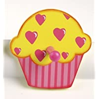 Tidlo Cupcake with Hearts Wooden Coat Peg/Hook