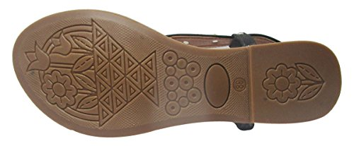 Sammy plates sandales casual dames de femmes concepteur Floater tongs Noir