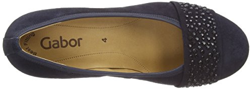 Gabor Shoes (Wallace), Escarpins Bout Fermé Femme Bleu (Blue)