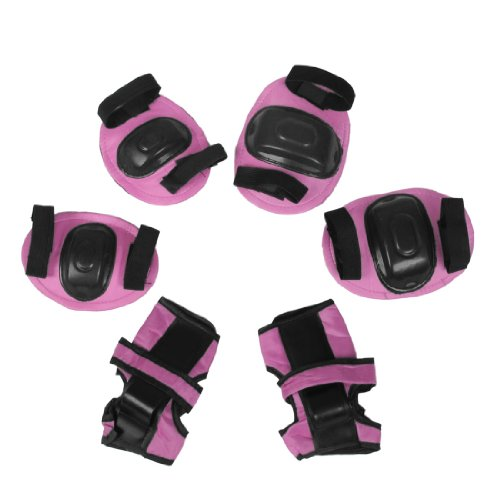 Sports Knee Elbow Wrist Inlineskaten Protective Pads Pink for Kids Test