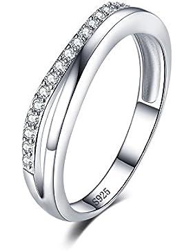Jewelrypalace 0.2ct Prinzessin Kranz Einfach Schönheit Elegant Drei Bands Partnerschaft Geschenk Ring 925 Sterling...