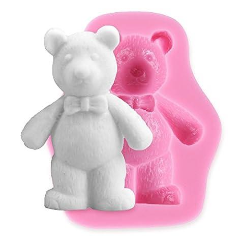 Moule silicone ours pour pâte à sucre amande fimo résine