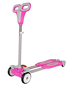 Taaza Garam 4 Wheel Zip Flick Style Double Board Self Propelled Kids Foot Scooter