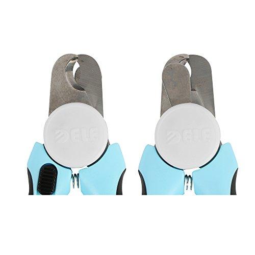 Softgrip Krallenschere Krallenzange Krallenschneider 16 cm in blau mit Feile in Profiqualität mit Präzisionsklingen geeignet für mittelgroße und große Rassen von amathings - 5