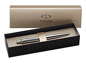 Parker Jotter Premium Stylo-bille Pointe Moyenne Attributs Chromés Acier Mat Ciselé [Ancien Modèle]
