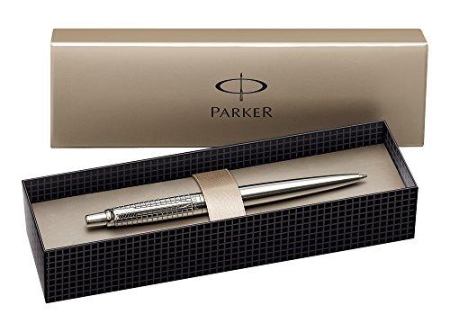 Preisvergleich Produktbild Parker S0908840 Premium Jotter-Kugelschreiber (gemeißelter Classic-edelstahl mit Chromeinfassung, Geschenkbox) schreibfarbe blau