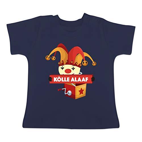 Karneval und Fasching Baby - Kölle Alaaf Jack in The Box - 18-24 Monate - Navy Blau - BZ02 - Baby T-Shirt ()