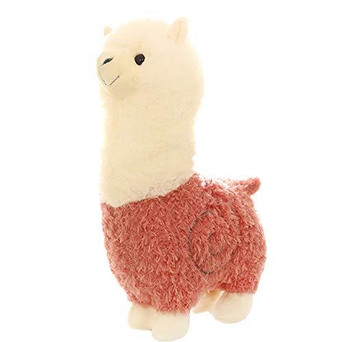 BEIHAO Alpaga en Peluche Jouets 6 Couleurs Mignon Animal Poupées Coton Doux en Peluche Jouets Enfants Cadeaux d'anniversaire 46 CM
