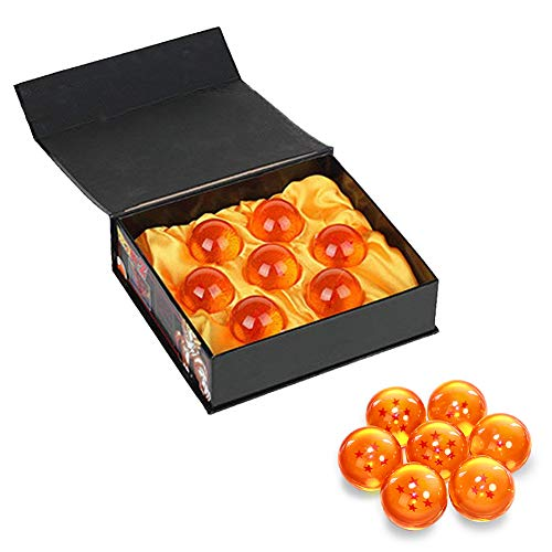 BRone Dragon Balls Dragon Ball, 7PCS Dragon Ball Z Balls of Dragon 1 to 7 Stars with Gift Box, New Year Gift to Collect or Gift for Kids / Anime Lover - Diameter 4,3CM