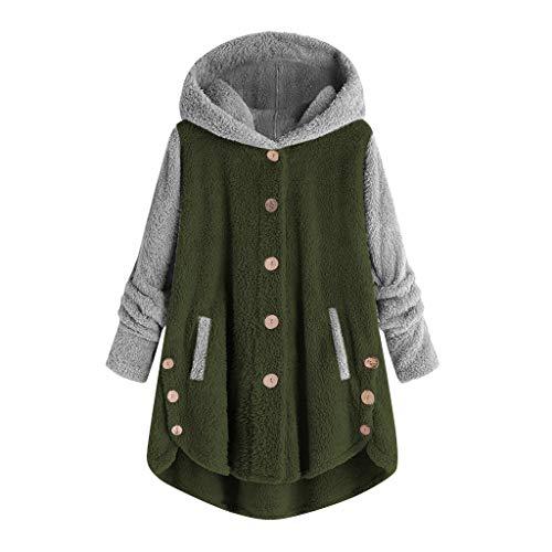 Kolila Damen Fleece-Mantel Hoodie Lässige Plus Size Nähen Baseball Uniform Style Patchwork Taste Langarm Kapuzenpullover Sweater Jacke