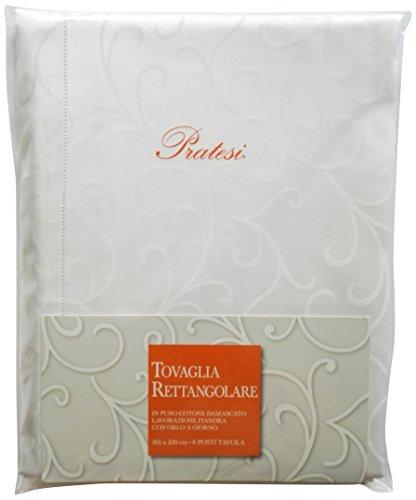Pratesi Tovaglia, Cotone, Bianco, 166 x 220 cm