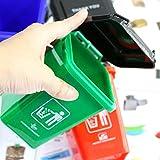 xuanyang524 Juego de Juguetes de Basura, latas de Basura de plástico para niños pequeños, Juguetes de Aprendizaje de clasificación de Basura para niños niñas de 3 a 10 años