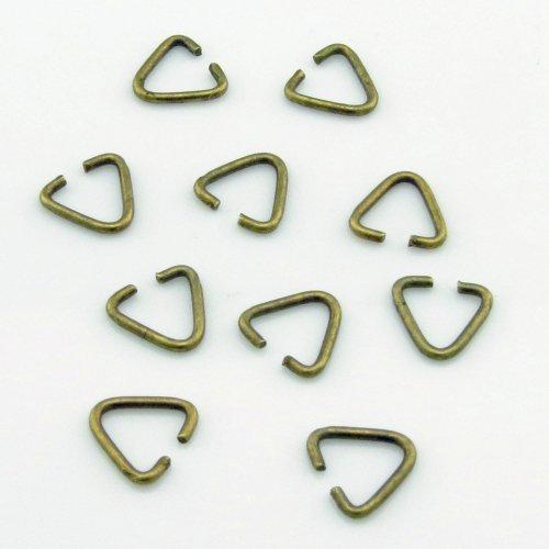 Triangolo Connettore per Collane - Aperto - 9x10mm - 40 Pz. - 15190 - Metallo, (Triangolo Attività)