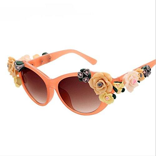 Polarisierte Sportart Sonnenbrille Fahrerbrille mit unzerbrechlichem Anti-Kratzer-Rahmen Anti-Diebstahl für Männer und Frauen Radfahren Fahren Fischen Fahren Wandern Golf ( Color : Orange )