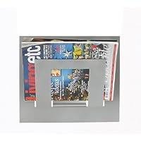 Wall Mounted Magazine Rack Single (Silver)