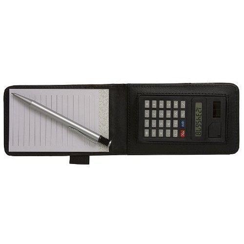 TIGRE POLIZIA STILE Block notes con penna e calcolatrice