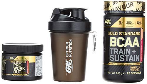 OPTIMUM NUTRITION BCAA266gPeach/PassiFr+Pre-WorkO88gFruPu +Shaker400 -