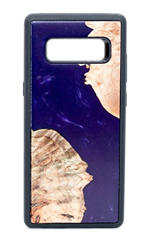 modernwood   Samsung Galaxy Note 8  Schutzhülle   Einzigartige Echten Holzrahmen Burl Handy-Cover   Gummi Bumper   Lila   Ahorn