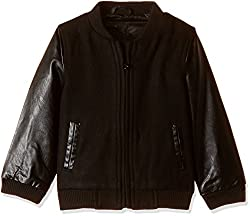 United Colors of Benetton Boys Jacket (16A2JACK0014I9012Y_Black_2Y)