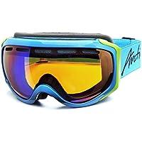 Arctica G-98 - Gafas de esquí y snowboard (sistema de doble lente, compatible con casco, revestimiento de espejo, capa triple de espuma) Arctica G-98 - Gafas de esquí y snowboard (sistema de doble lente, compatible con casco, revestimiento de espejo, capa triple de espuma) G-98A Rahmen: blau / Linse: orange Revo Beschichtung