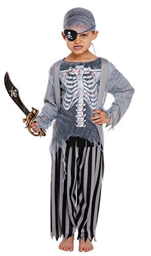 Henbrandt Disfraz de Pirata Zombie para niños de Halloween (Edad de 10 a 12...
