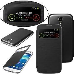 Membrane - Noir Portefeuille Coque compatibles avec Samsung Galaxy S4 (GT-i9500 / i9505 LTE / i9502 Duos/Google Edition / S4 Value Edition GT-i9515 / SCH-i959) + 2 Protection d'écran