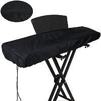 Funda para teclado de piano, color negro con cordón, resistente al polvo y al agua; para teclado electrónico (GQZ01)