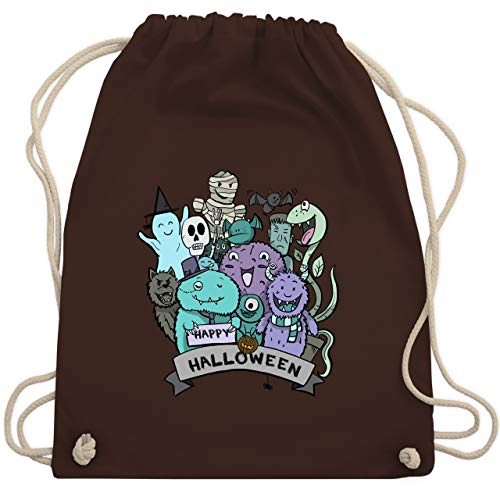 Halloween - Happy Halloween Monster - Unisize - Braun - WM110 - Turnbeutel & Gym Bag
