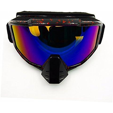 ZHGI Motocicleta off road gafas a prueba de arena gafas de deportes outdoor gafas de esquí