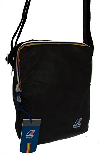 Borsello Tracolla Uomo K-Way Bag K-Fold Medium Ammo 4AKK1516 (Black)