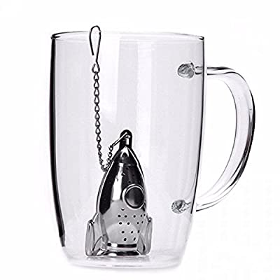 Facil&co [Infuseur à thé] [Passoire à thé] Acier Inoxydable [Mignon Cadeau Rigolo et Original] avec une soucoupe intégrée