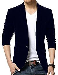 Vividda Herrensakko Business Anzug Einfarbig Freizeit Velour Blazer 75e82ab6b6