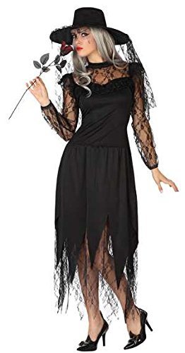 ATOSA-Verkleidung Schwarze Witwe Erwachsene, T2 (Schwarze Kostüm Witwe)