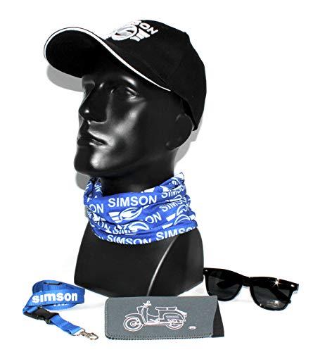 Simson Kollektion Geschenkset Fanset mit Bascap Brille Brillenetui KR Halstuch b Schlüsselband