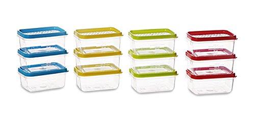 All Time Plastics Polka Container Set, 125ml, Set of 12, Multicolour