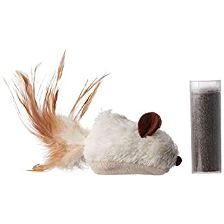 kong refillable catnip feather mouse cat toy KONG Refillable Catnip Feather Mouse Cat Toy 41AHsghuaaL