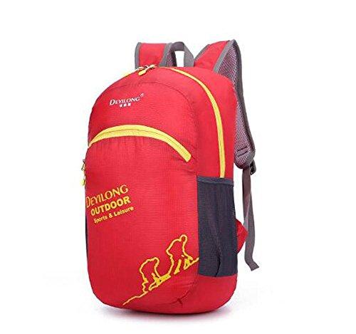 SZH&BEIB Faltbare Rucksack wasserdicht Nylon für Außenreit Tasche Klettern Wandern Wasserbeutel C