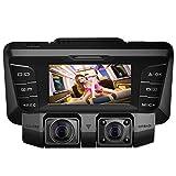 Dashcam,4K UHD WIFI Avant et Arriere Double 170 Degré Grand Angle Voiture Camera avec Infrarouge WDR Vision Nocturne,Loop Recording,Capteur-G et Détection Mouvement,Supporte 128G Carte Micro SD