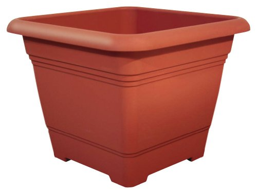 Pflanzkübel NORA quadratisch aus Kunststoff, Farbe:terracotta;Größe:58 x 58 cm