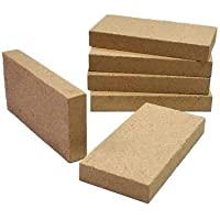Set of 4 Fireplace, Pizza Oven, BBQ, Stove Premium Vermiculite FireBrick 230mm x 114mm x 25mm (9