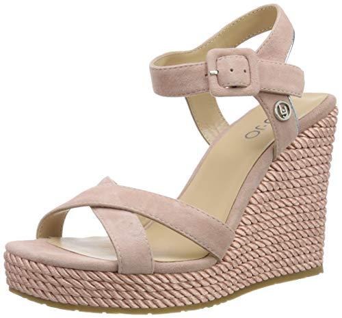 Liu Jo Shoes Lucy 05 - Sandal Kid Suede Pink Punta Aperta Donna, Rosa 00006, 38 EU