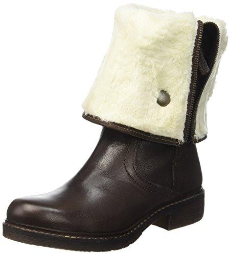 ManasCola - Stivali classici imbottiti, stivali al ginocchio Donna , Marrone (Marron (T Moro)), 37