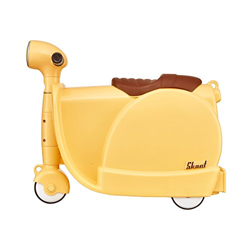 Skoot Kids' Ride-On Suitcase Equipaje Infantil, 13 litros, Color Amarillo