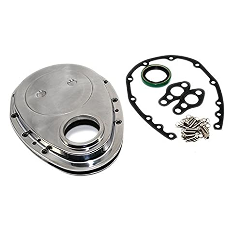Assault Racing Products A6040BOX SBC Chevy Polished Aluminum Timing Chain Cover Kit - 283 327 350 400 Small Block by Assault Racing Products
