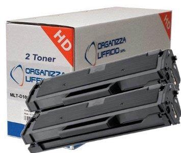 Organizza Ufficio 2 Toner O-Mlt-d101s per SCX3405, ML2160, 2165W, SCX 3400,3400F, 3405F, 3405FW, SF760, Durata 1.500 pagine.