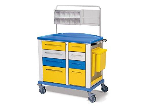 Chariot L'Hôpital Pour Les Médicaments Huit Tiroirs Et Outils Plateau Maintien