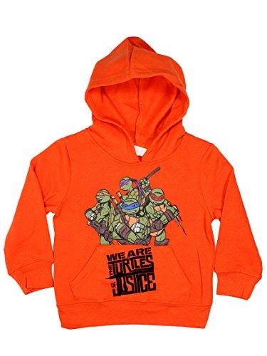 Turtles Ninja Official Boys Hoodie Long Sleeve 3Years Orange