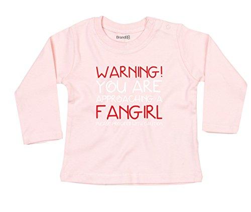 Approaching A Fan Girl Baby T-Shirt Lang Arm - Hell Rosa 18-24 Monat (Twilight-film-shirts)