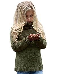 De Feuilles Mädchen Strickjacke Winter Kleinkind Langarm Warm Poncho