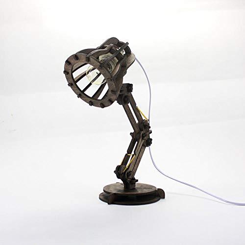 Lámparas Lámparas De Escritorio Iluminación Nocturna Lectura Lámpara Madera Pixar Lámpara De Mesa Creativa Dormitorio Luz De Noche Luz De Noche Atenuación De Luz Producto Terminado @ Nogal Atenuado Vi